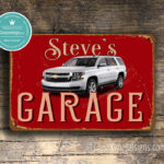 Personalized Chevrolet Parking Sign