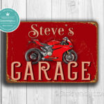 Personalized Ducati Garage Sign
