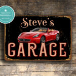 Personalized Ferrari Garage Sign