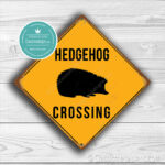 Classic Metal Signs Hedgehog Crossing Sign 2
