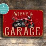 Personalized Honda Garage Sign