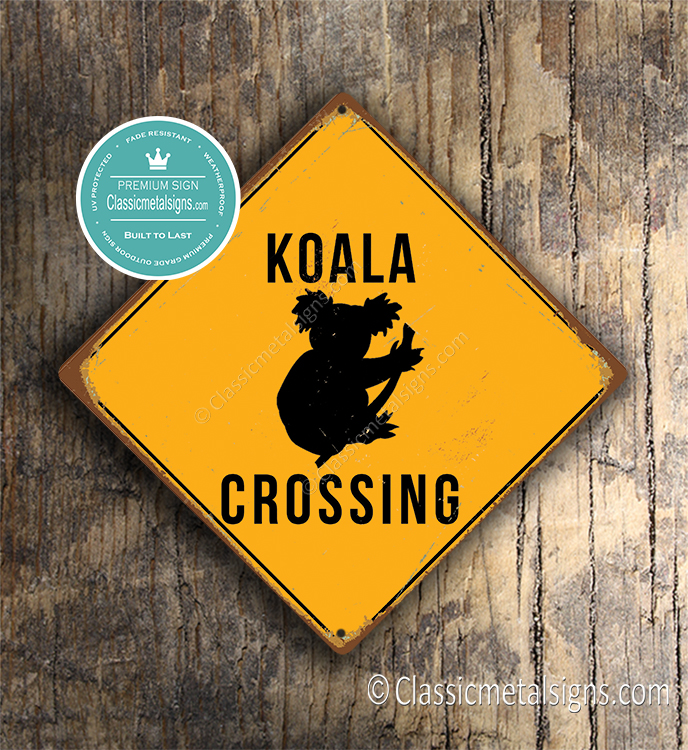 Koala Crossing Sign
