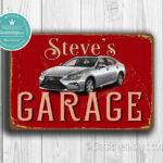 Peraonalized Lexus Garage Sign