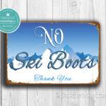 Classic Metal Signs No Ski Boots Sign 2