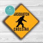 Classic Metal Signs Sasquatch Crossing Sign 1