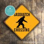 Classic Metal Signs Sasquatch Crossing Sign 2