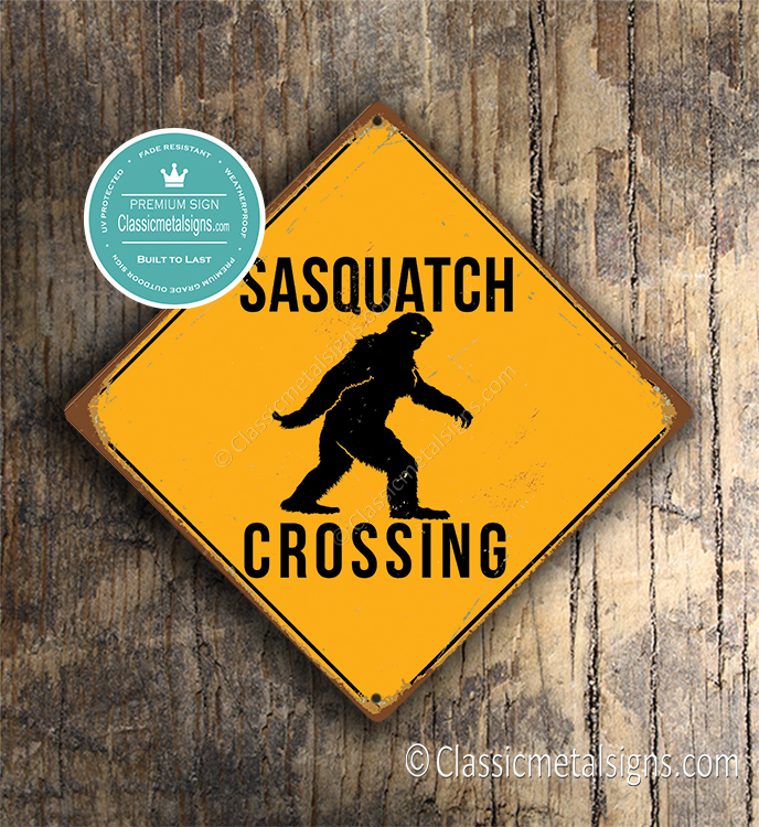 Sasquatch Crossing Sign