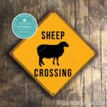 Sheep Crossing Sign