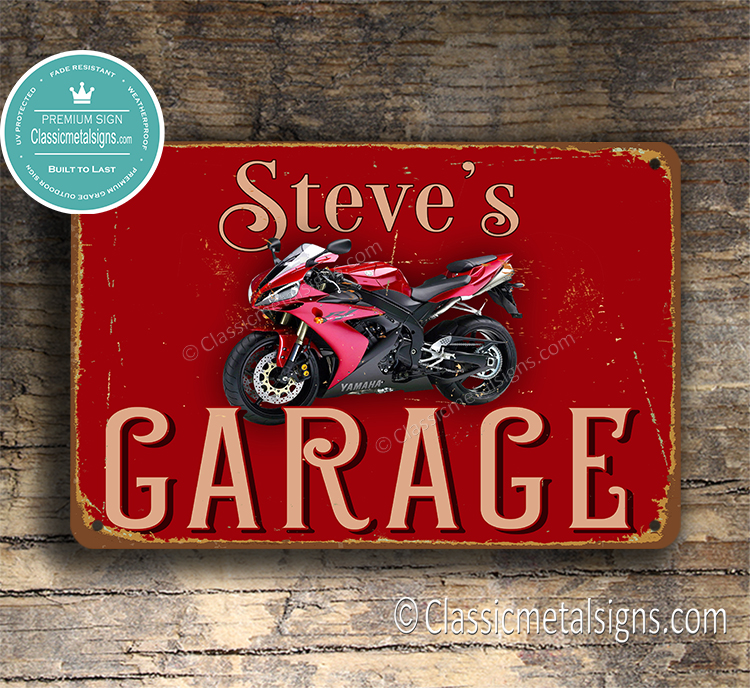 Personalized Yamaha Garage Sign