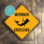 ClassicMetal Signs Mermaid Crossing Sign 2