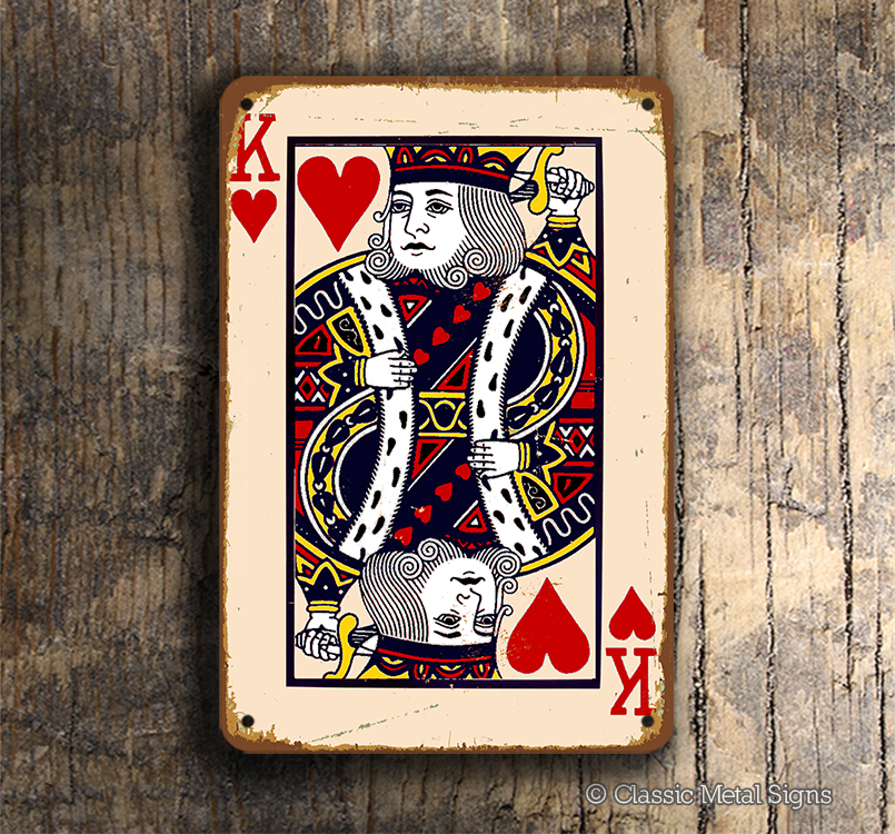 King Of Hearts Playing Card Sign