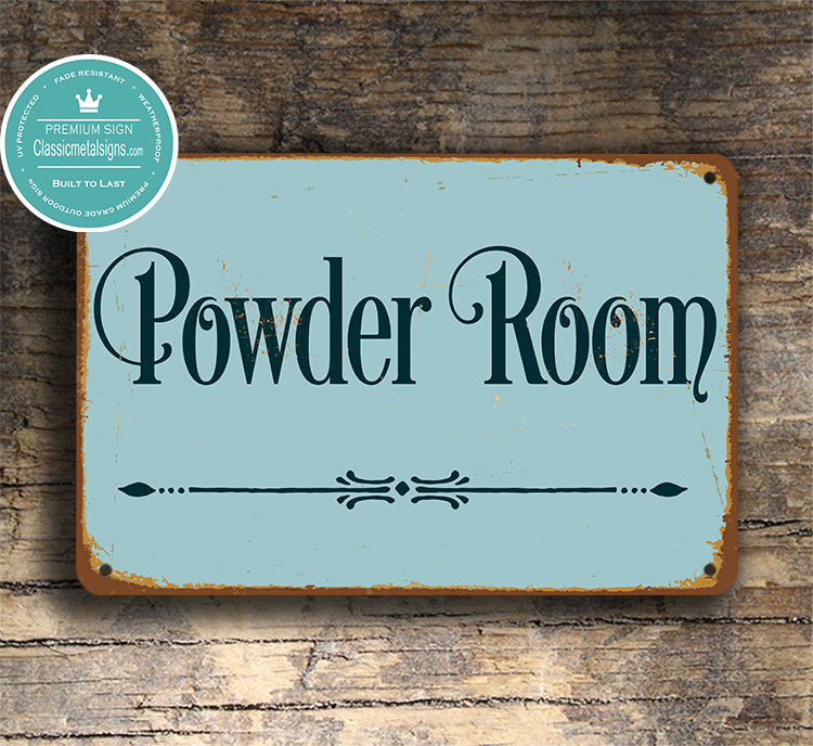 Powder Room Door Sign