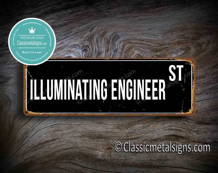 Illuminating Engineer Street Sign Gift