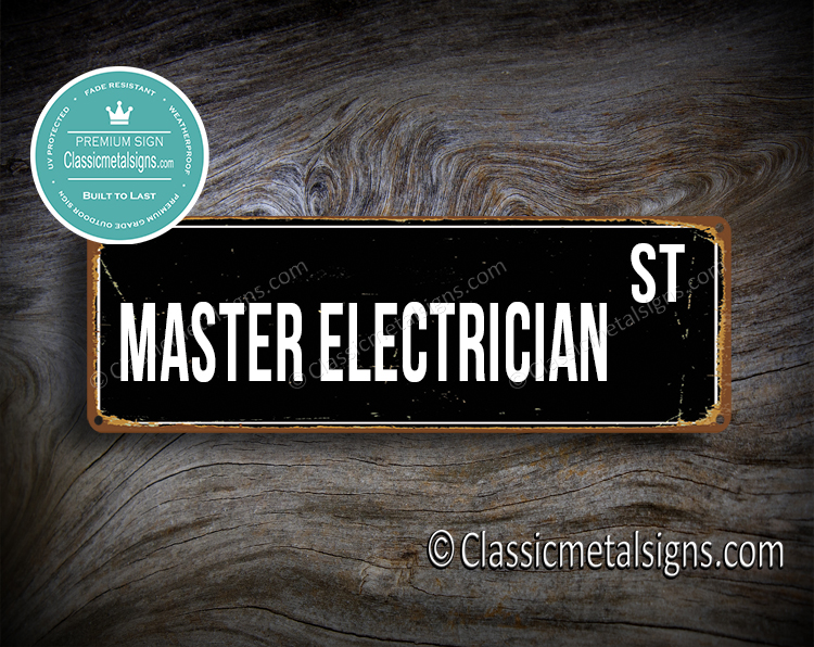 Master Electrician Street Sign Gift