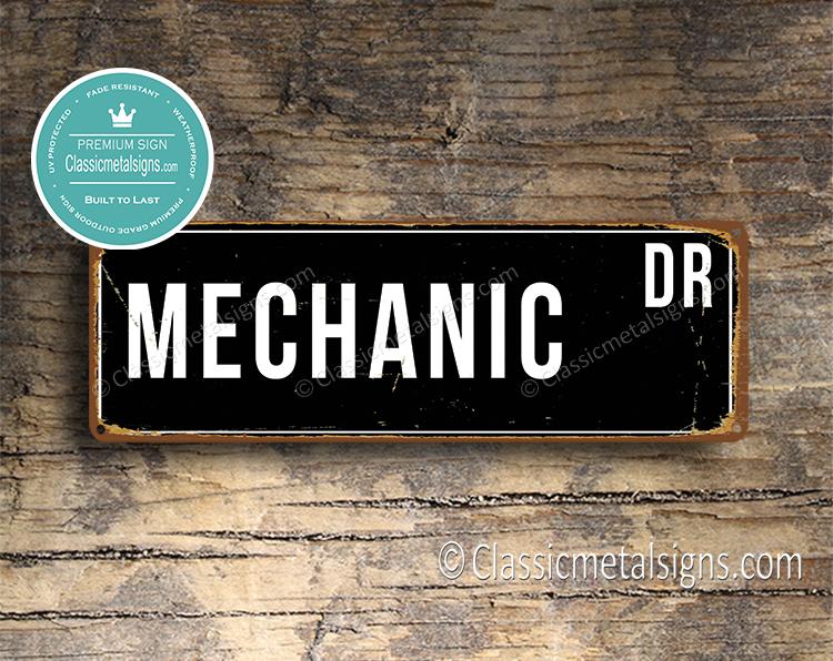 Mechanic Street Sign Gift
