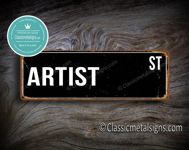 Artist Street Sign Gift