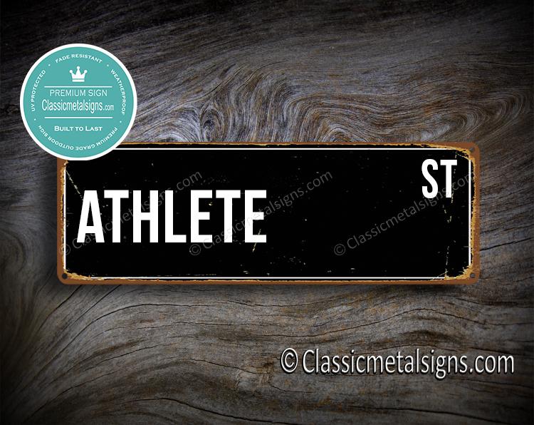 Athlete Street Sign Gift