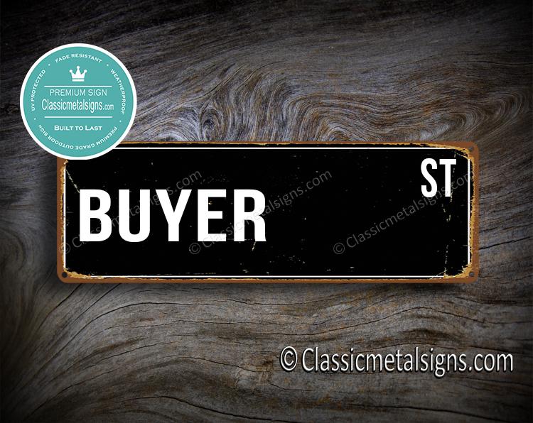 Buyer Street Sign Gift