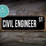 Civil Engineer Street Sign Gift 1