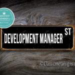 Development Manager Street Sign Gift