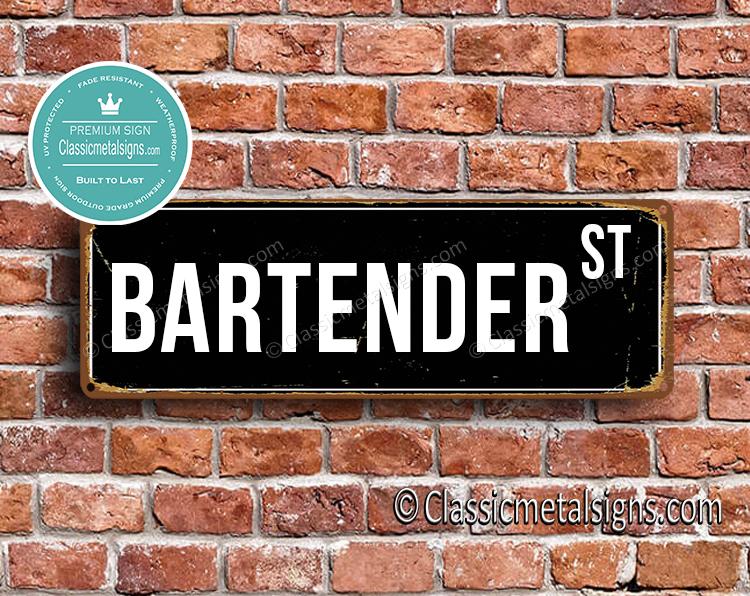 Bartender Street Sign Gift