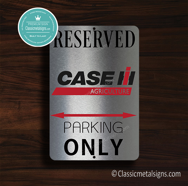 Case IH Tractor Parking Only sign