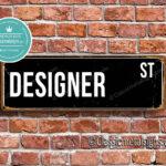 Designer Street Sign Gift 1