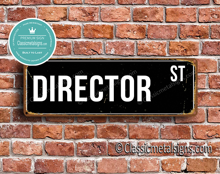 Director Street Sign Gift