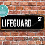 Lifeguard Street Sign Gift 1