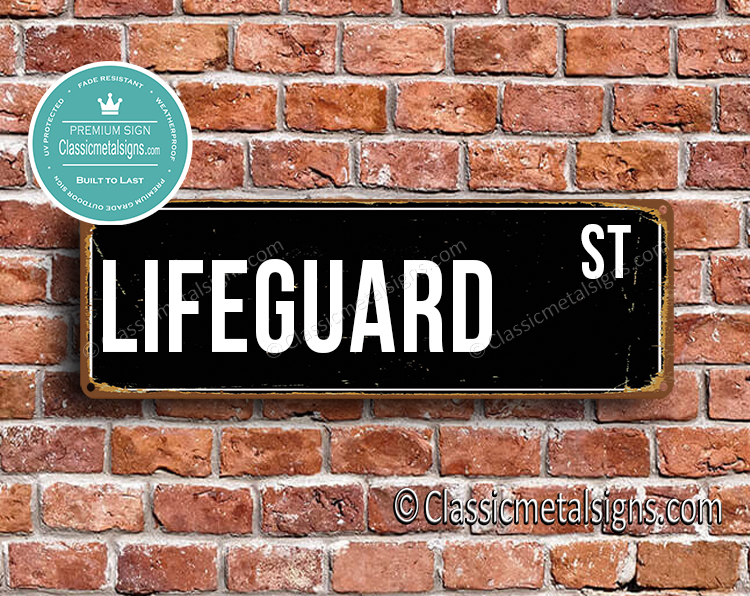 Lifeguard Street Sign Gift