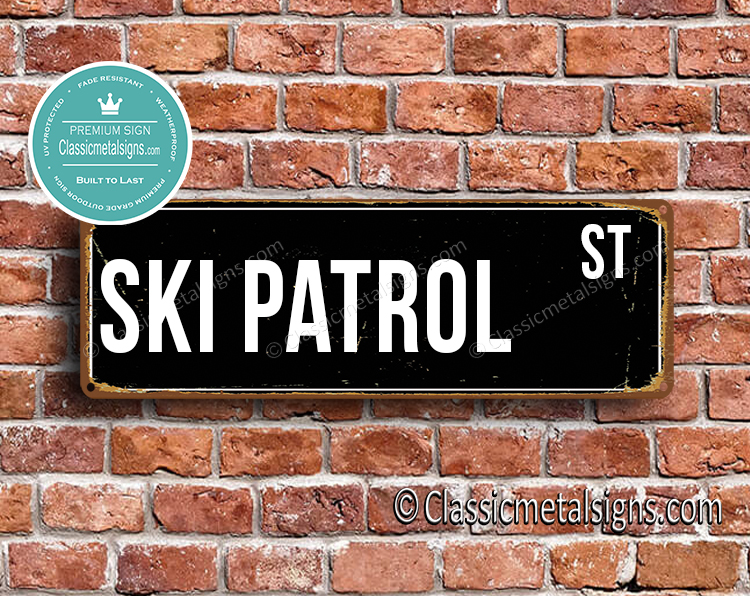 Ski Patrol Street Sign Gift