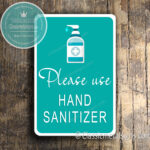 Classic Metal Signs Hand Sanitizer Signs