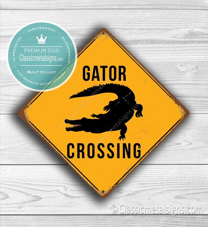 Gator Crossing Sign
