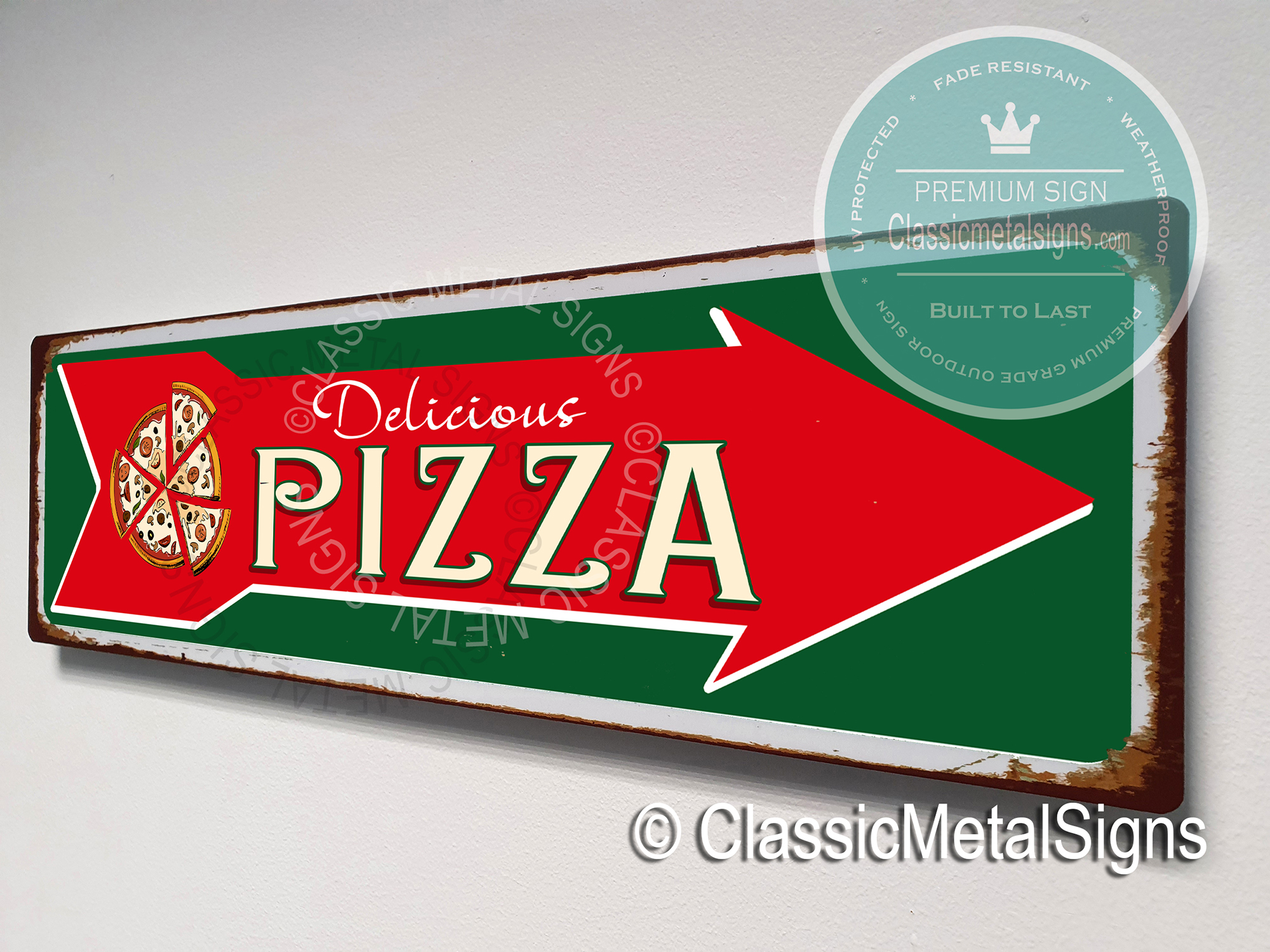 Vintage Pizza Sign