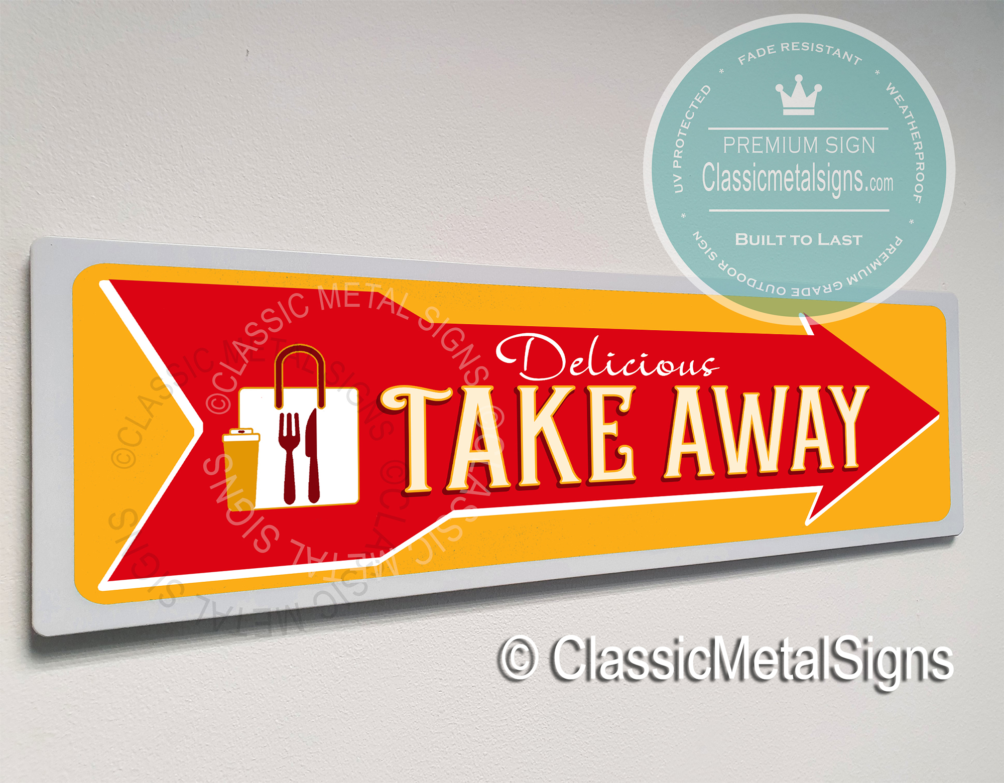 Take Away Sign