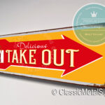 Take Out Directional Sign