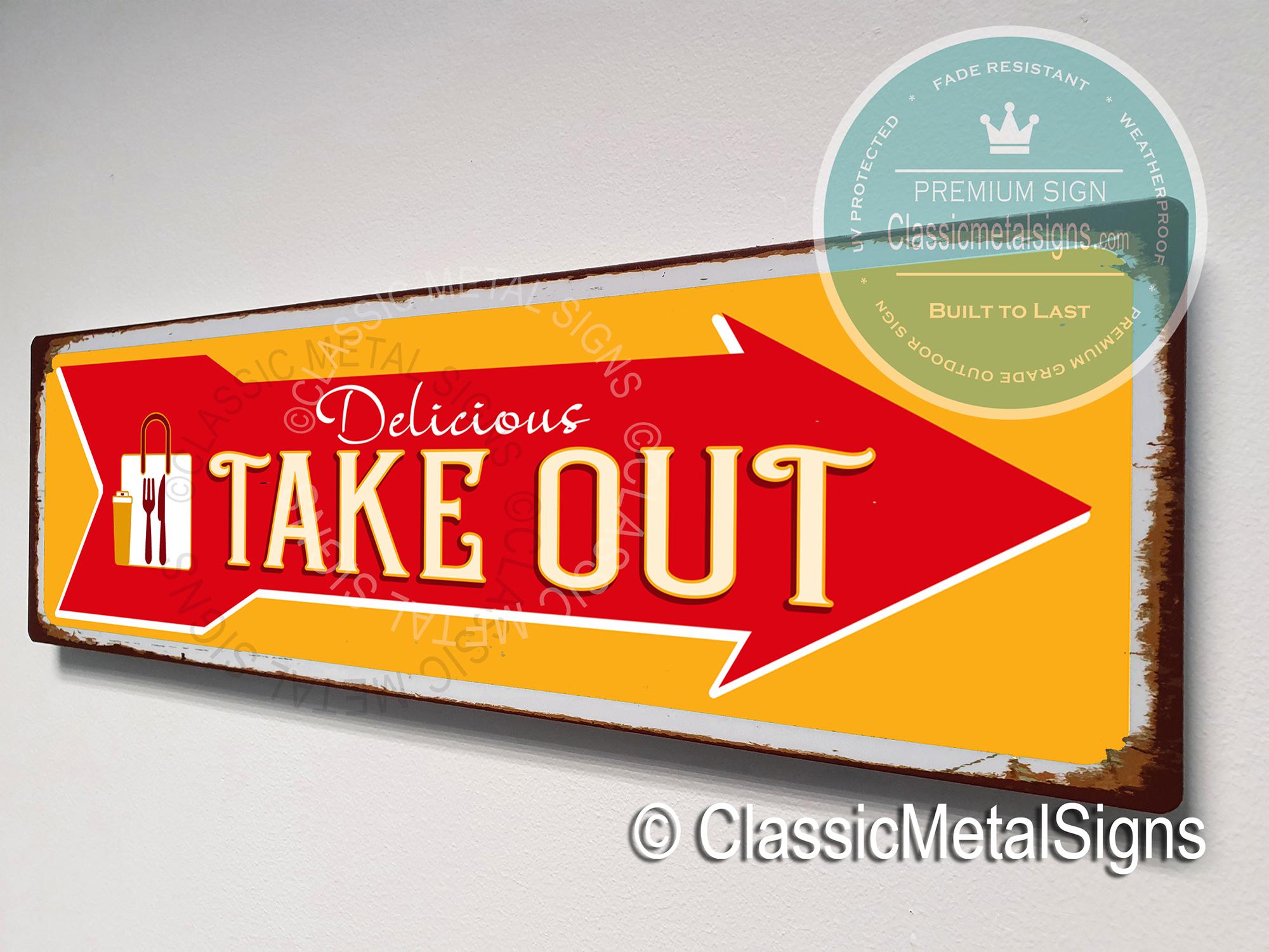 Take Out Arrow Sign