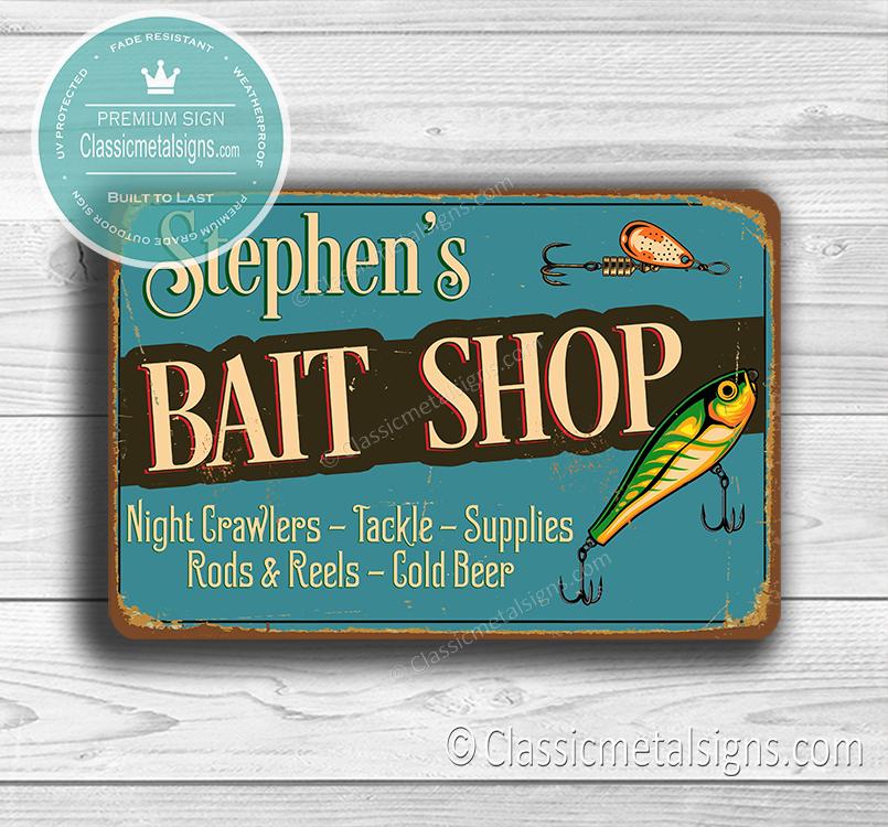 Custom Bait Shop Sign