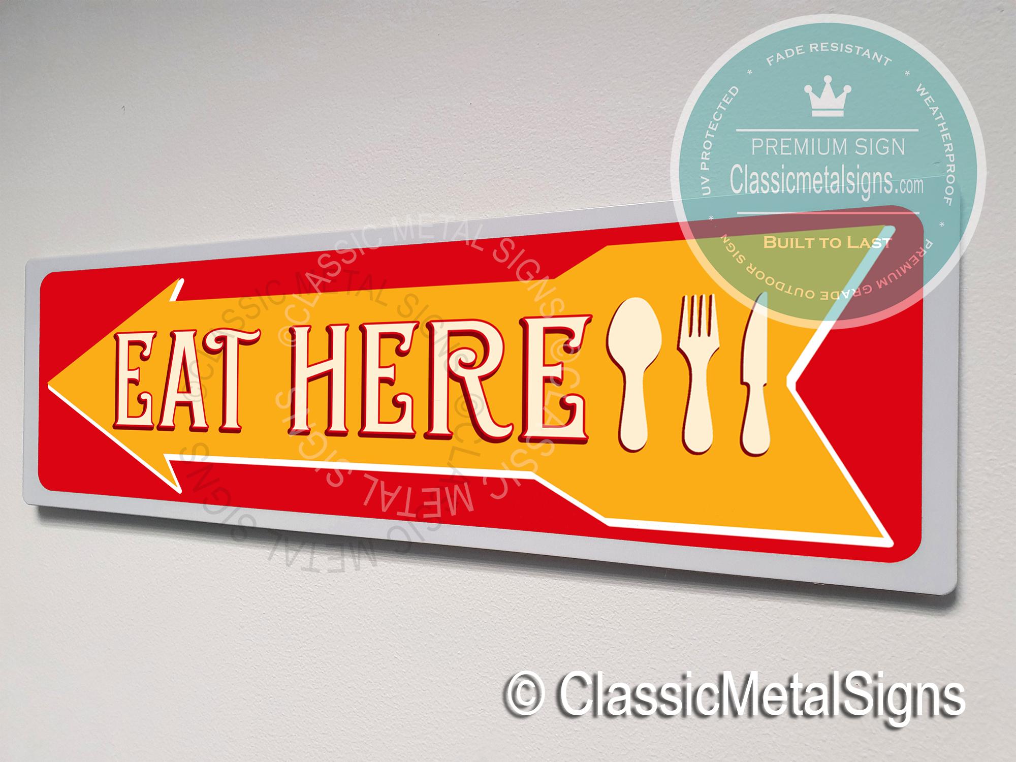 Eat Restaurant Sign