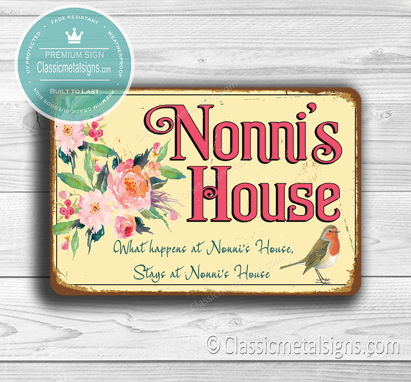 Nonni's House Signs