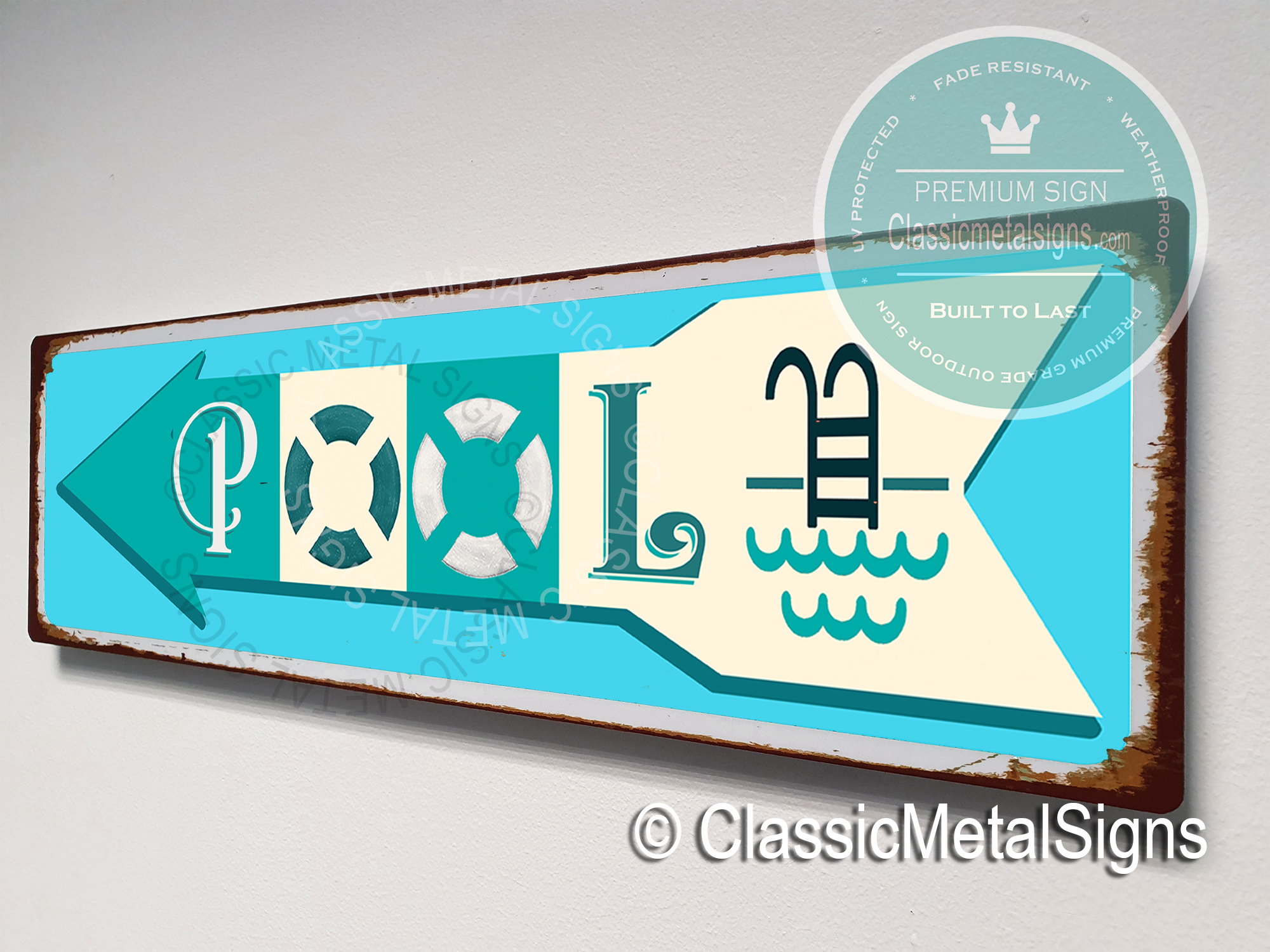 Pool Directional Signs