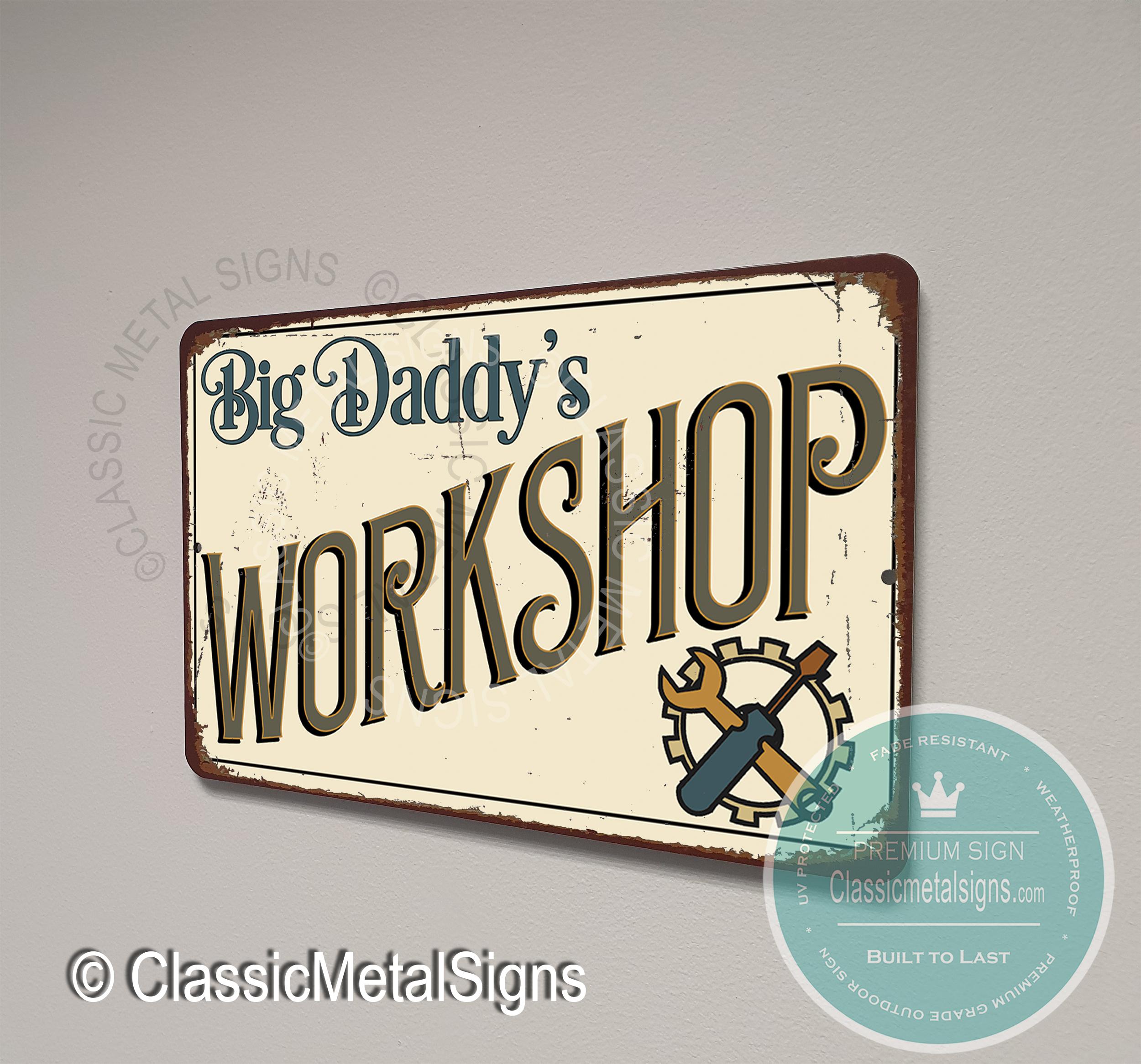 Big Daddy's Workshop Signs