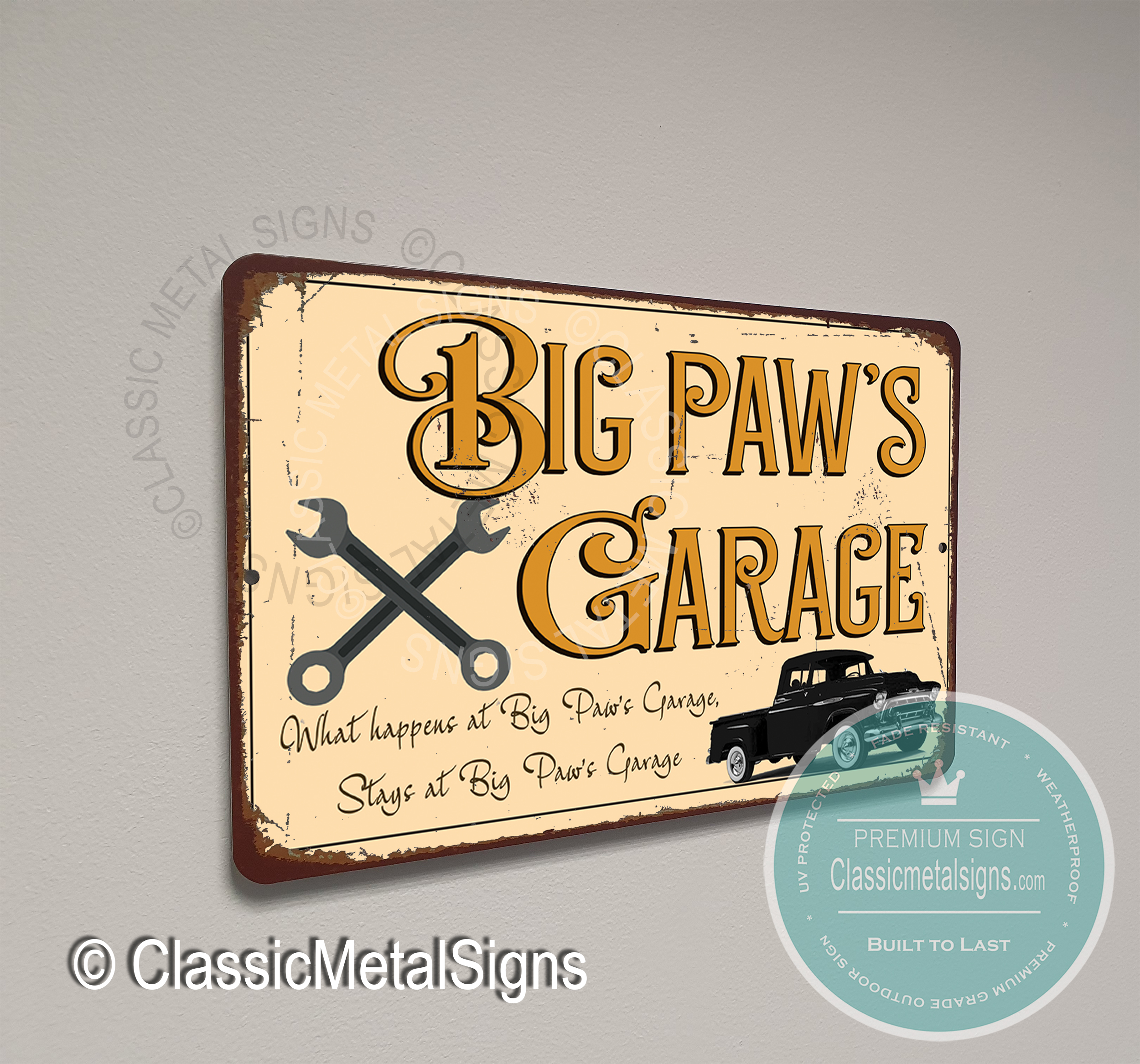 Big Paw's Garage Signs