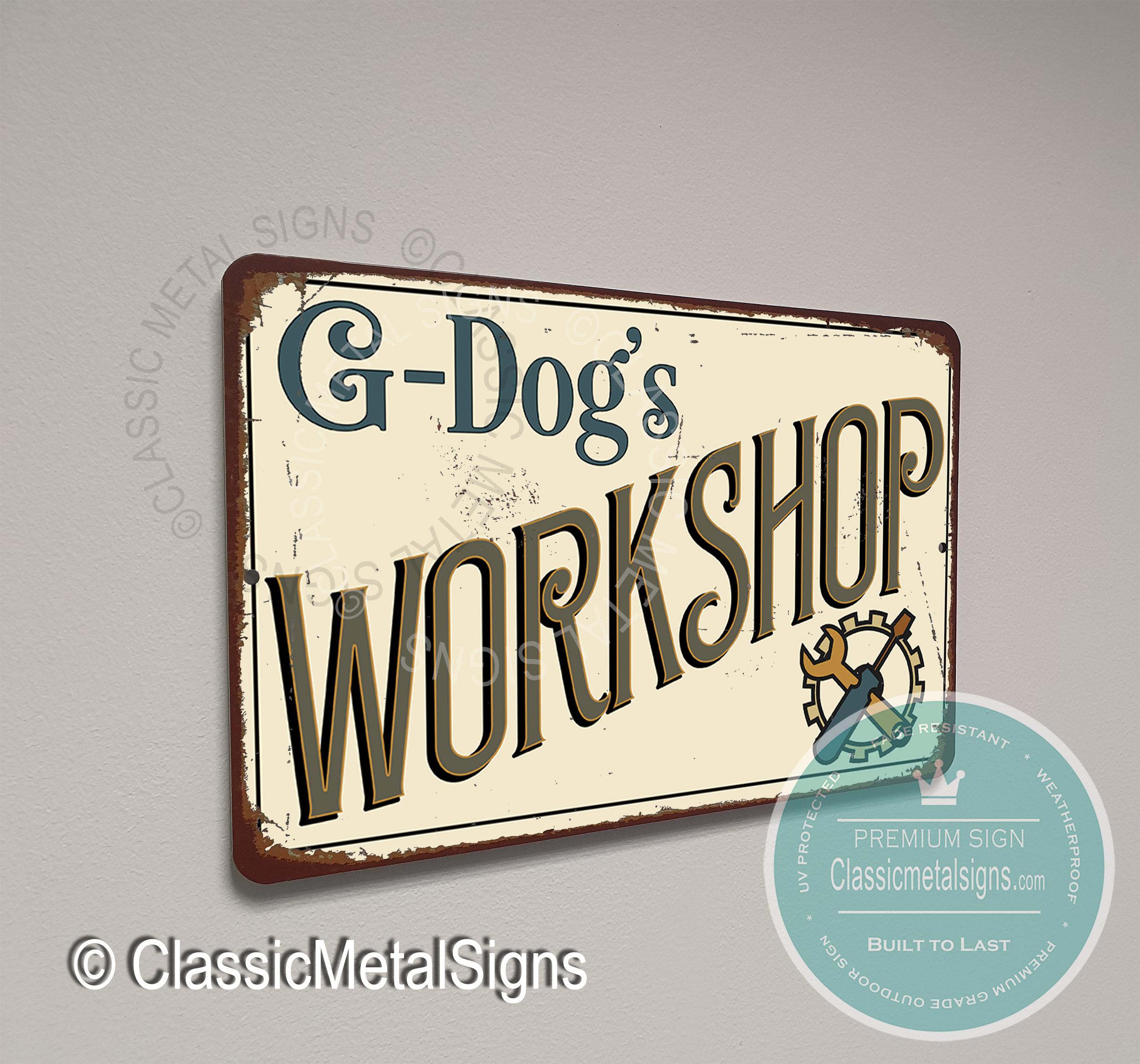 G-Dog's Workshop Sign