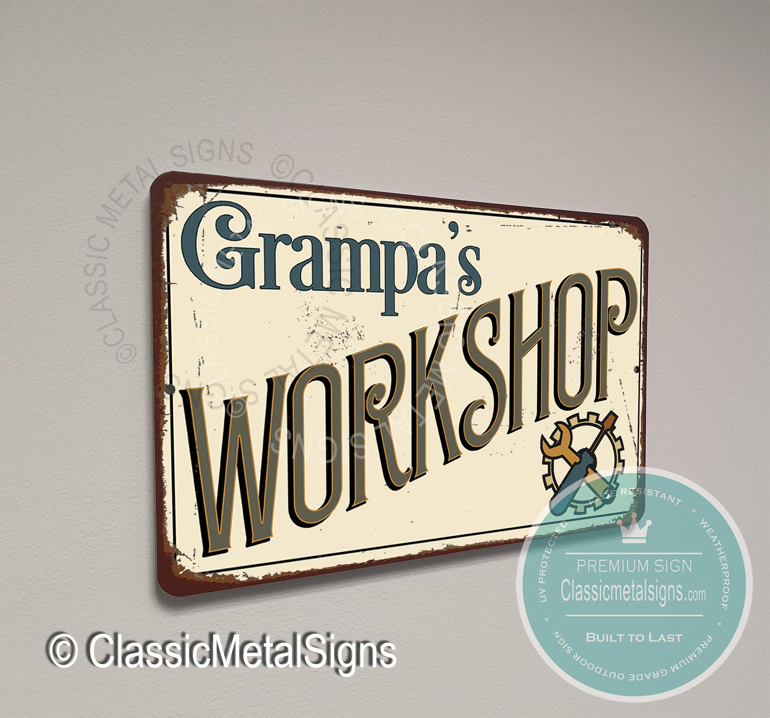 Grampa's Workshop Sign