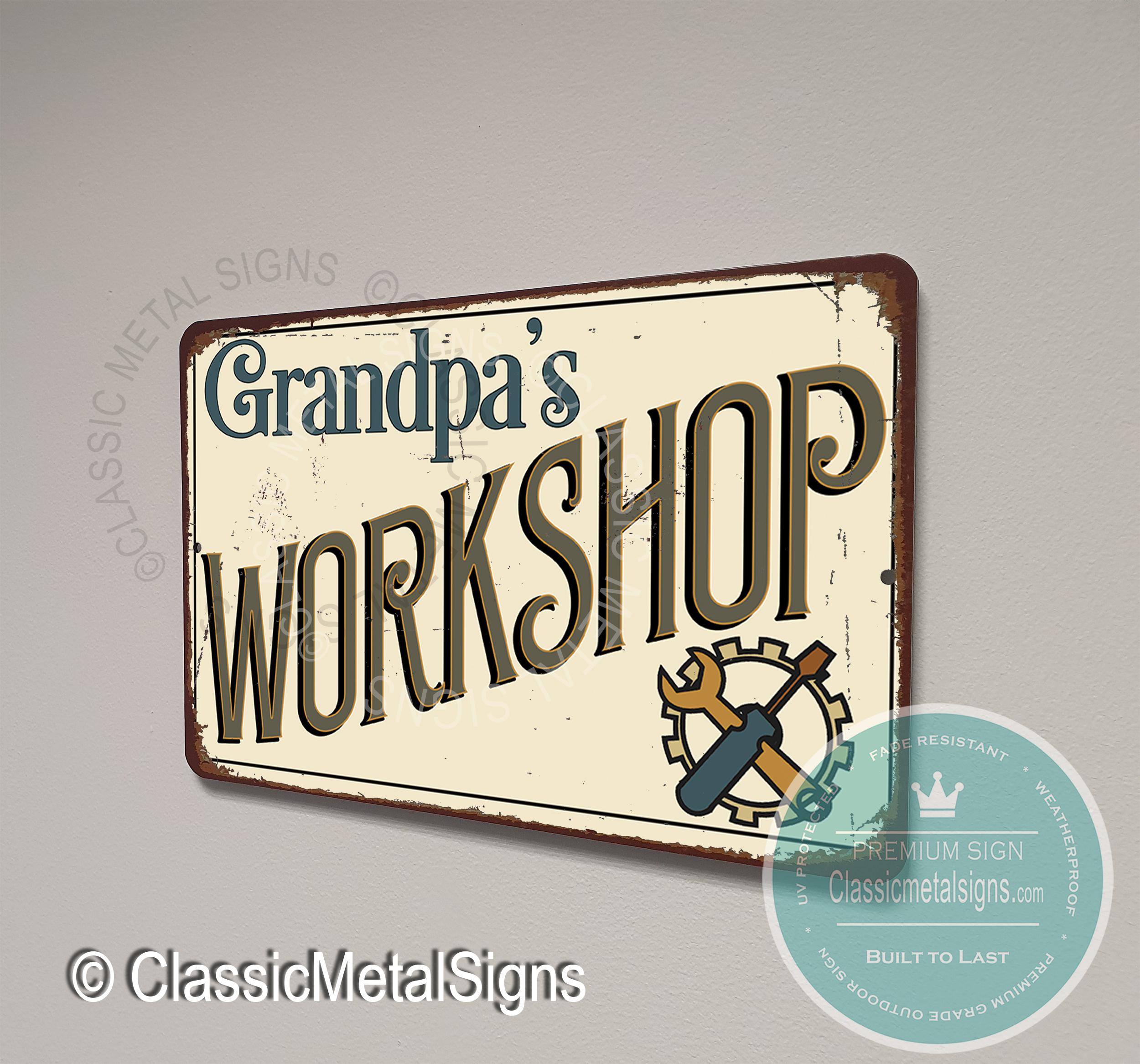 Grandpa's Workshop Signs