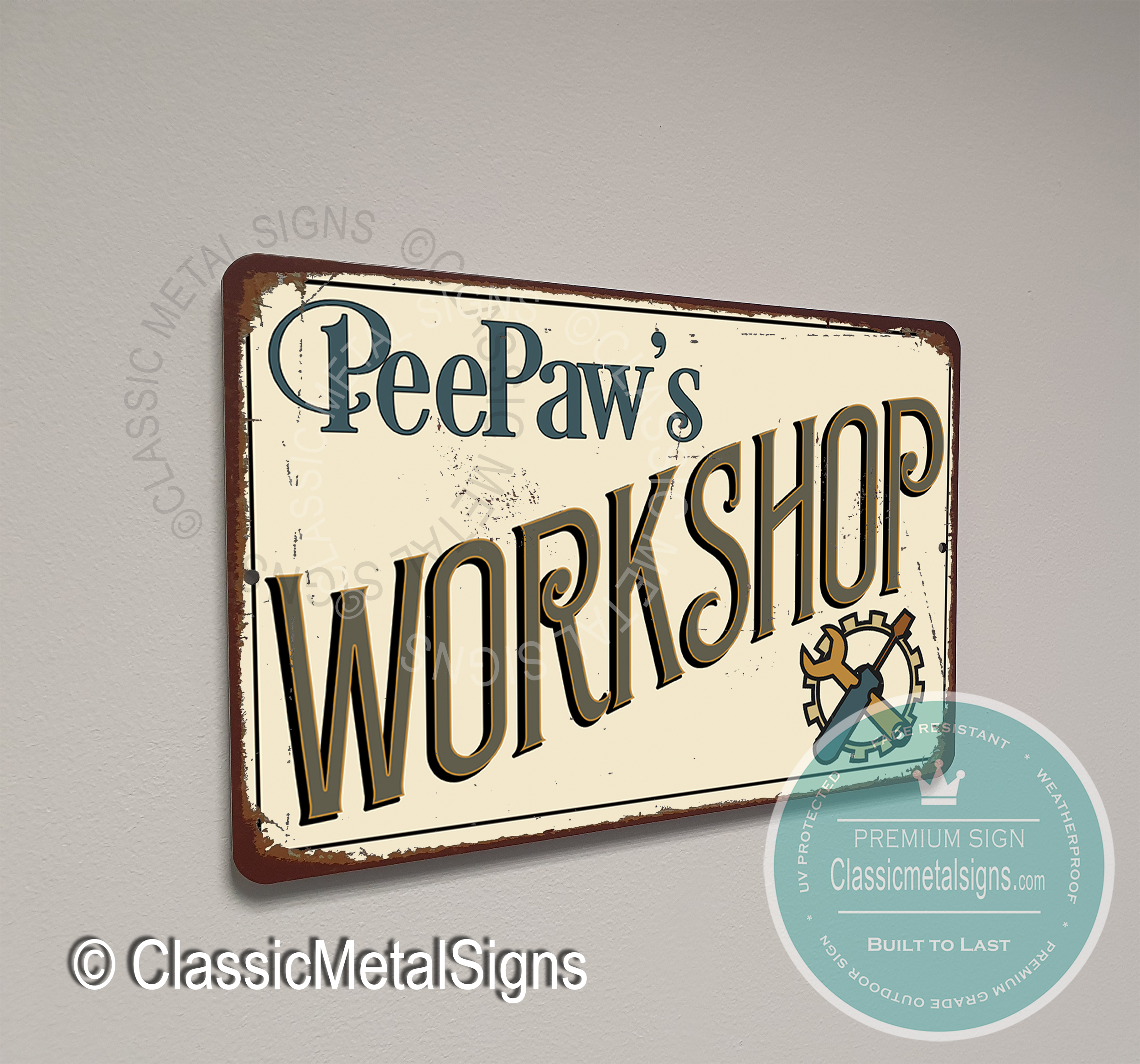 Peepaw's Workshop Sign
