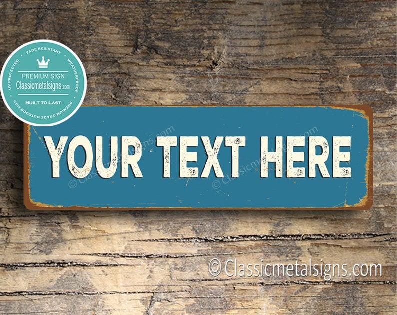 customizable sign