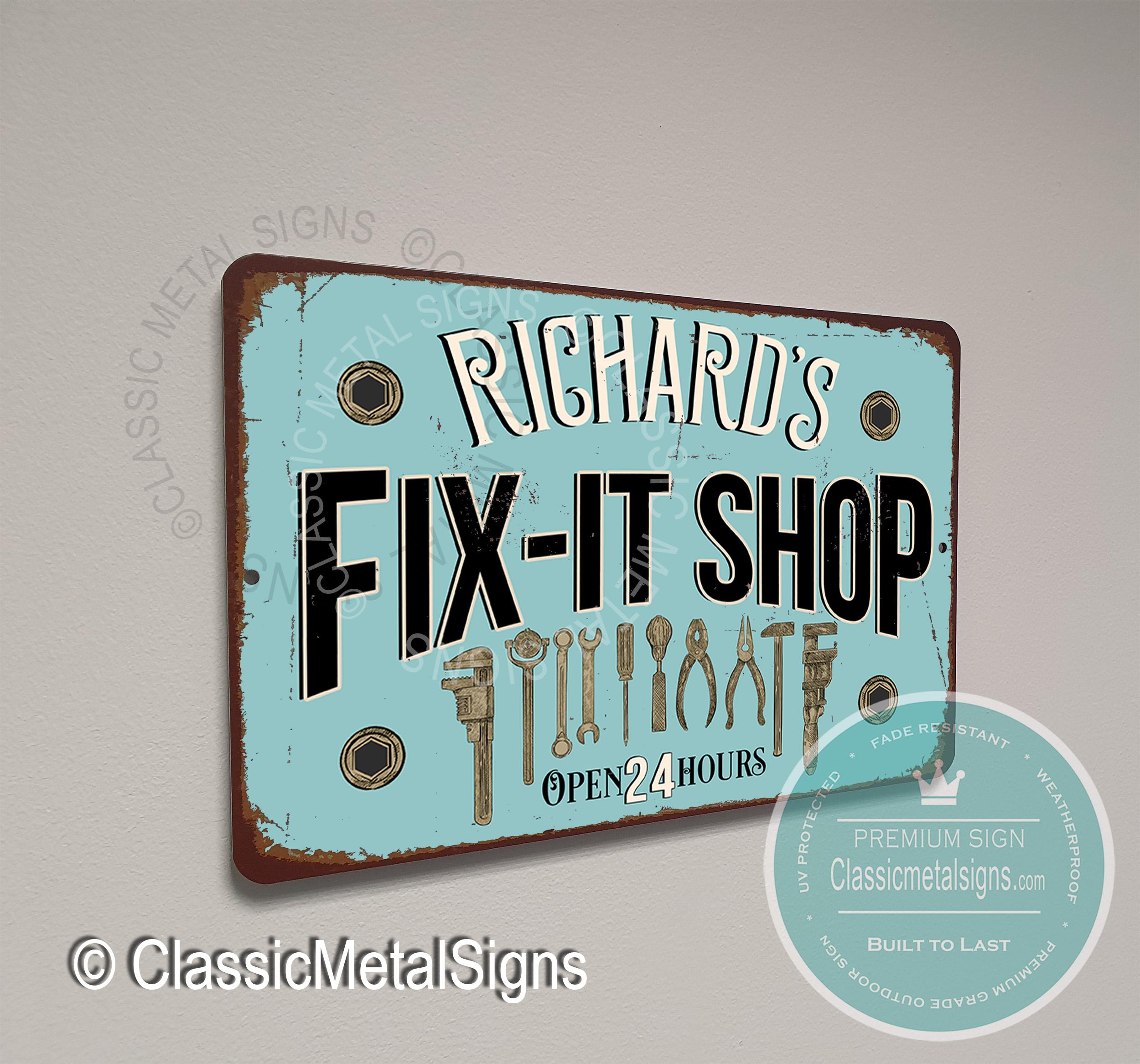 Personalized Fix-it Shop Sign