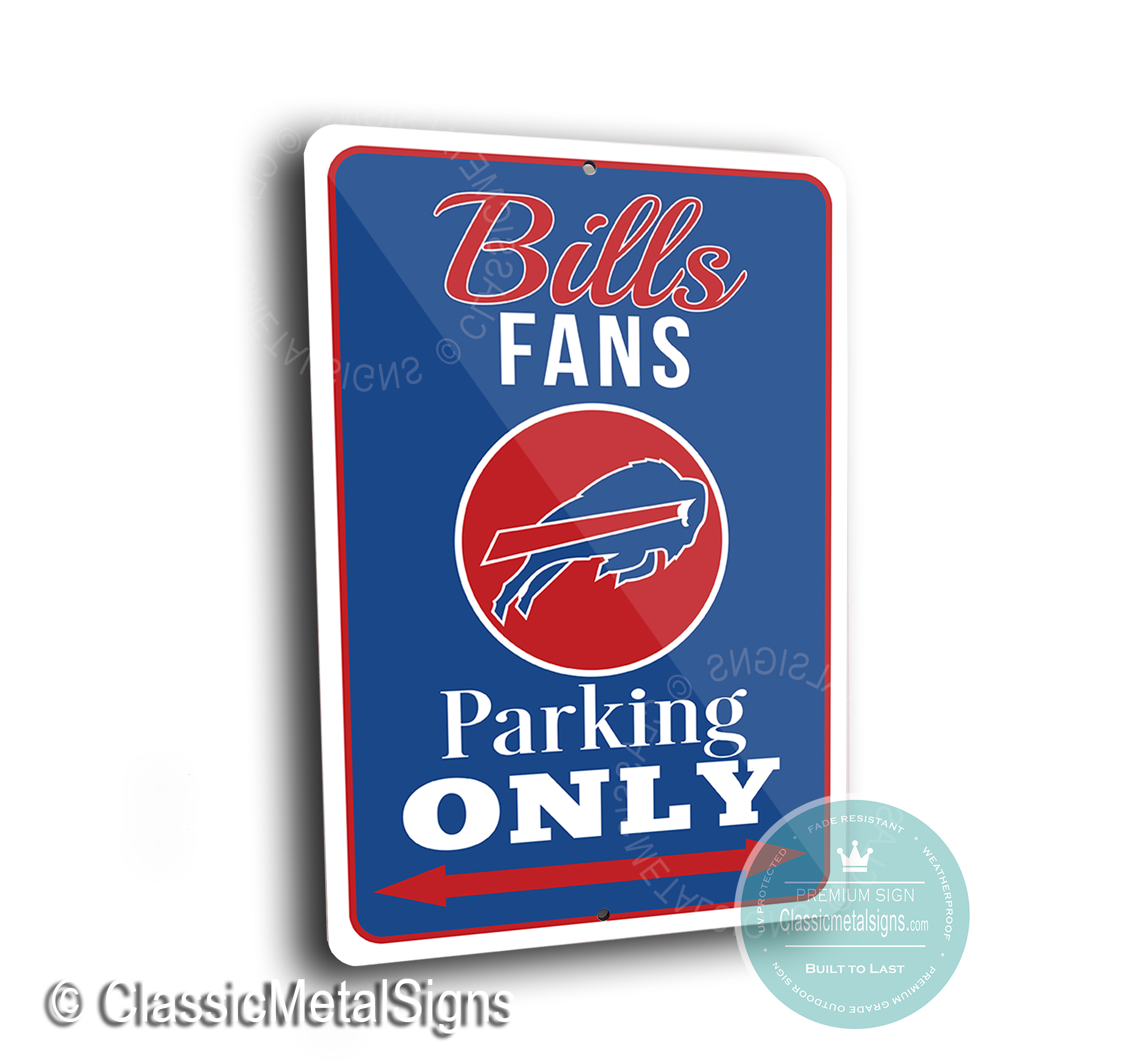 Buffalo Bills Parking Only Signs